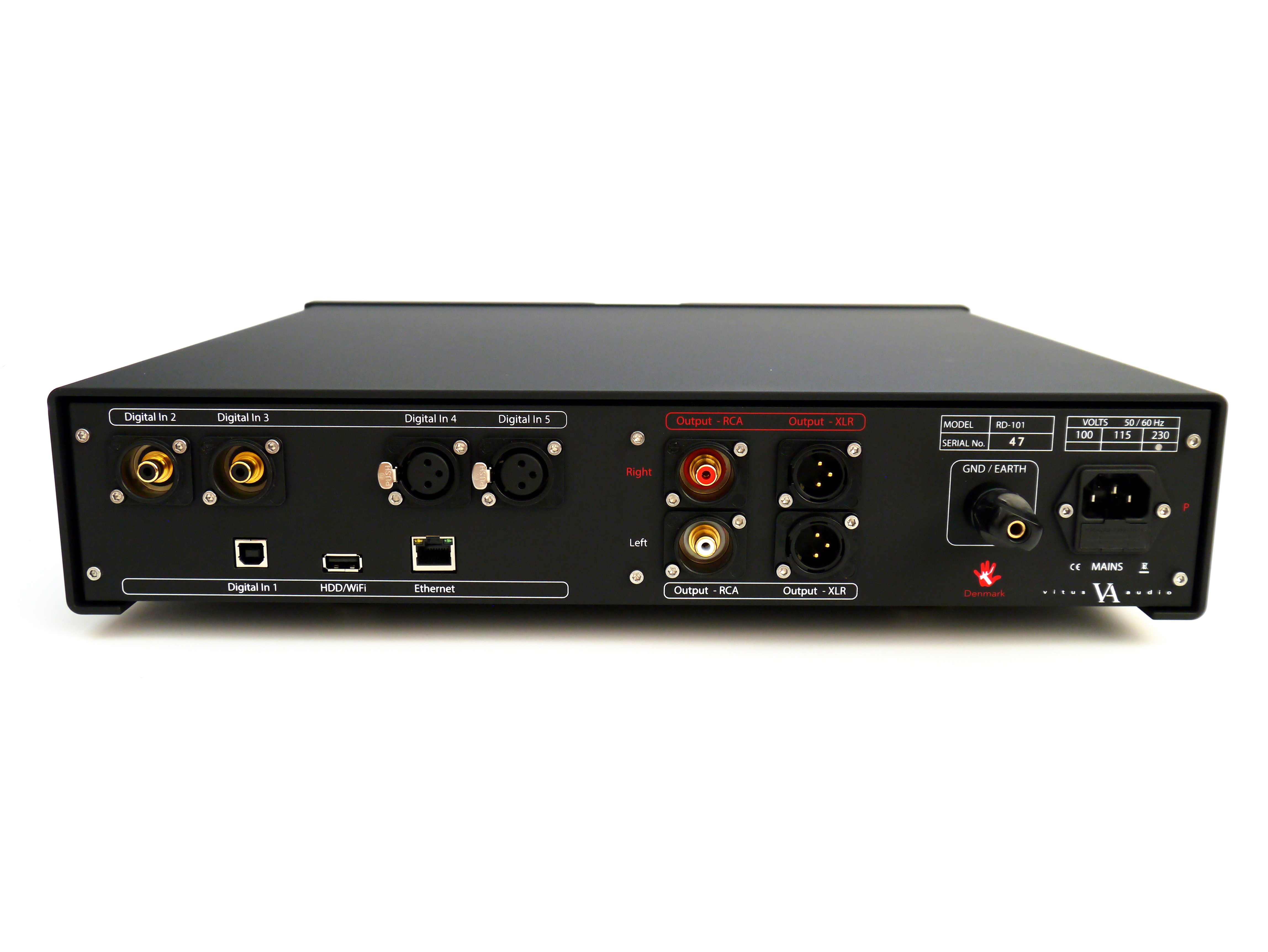 Vitus Audio RD-101 DAC Rear @ Audio Therapy