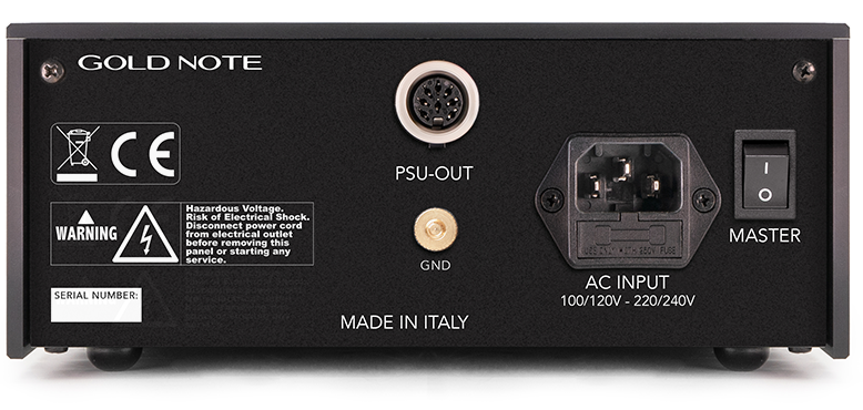 Gold Note PSU-10 EVO Rear @ Audio Therapy