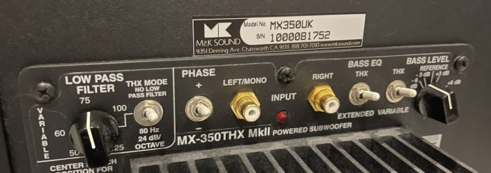 M&K MX350 MkII Active Subwoofer @ Audio Therapy